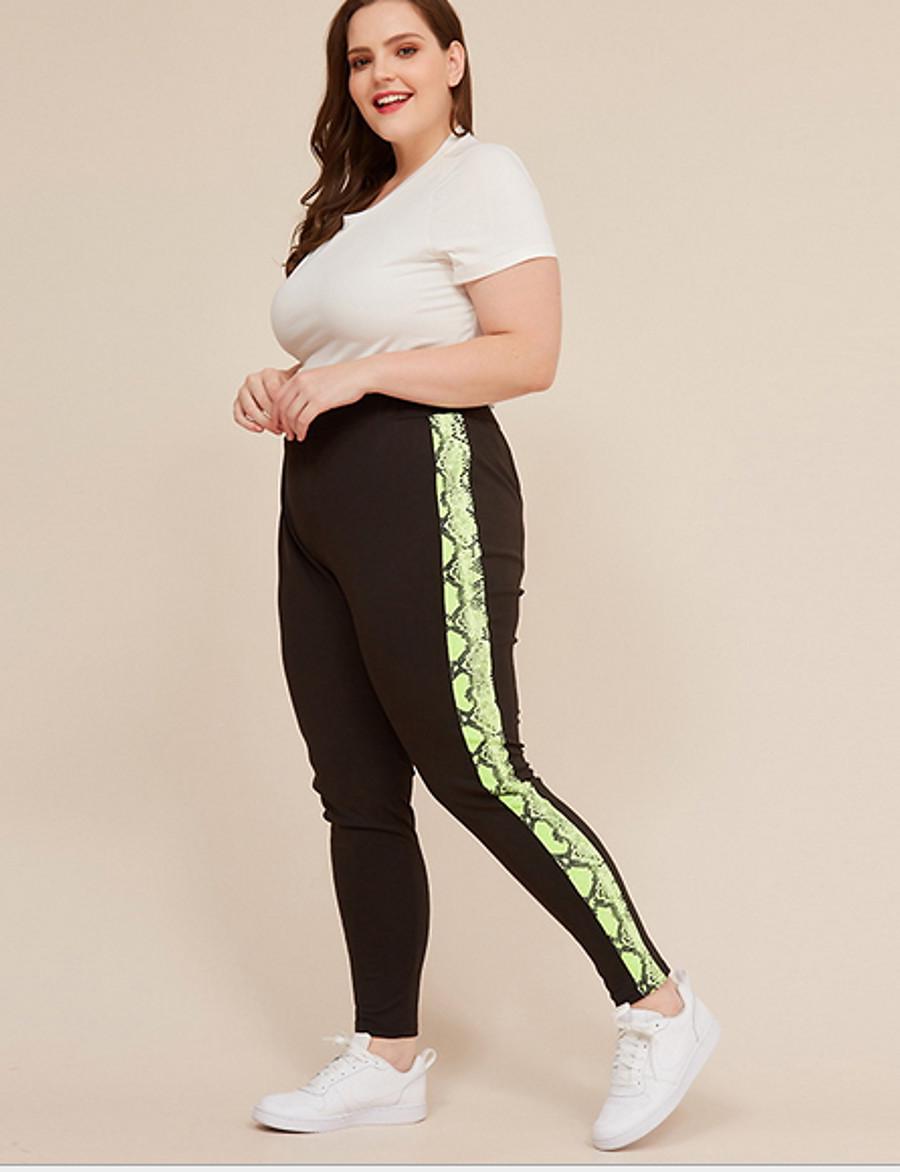 Women's Basic Loose Chinos Pants Pattern Black