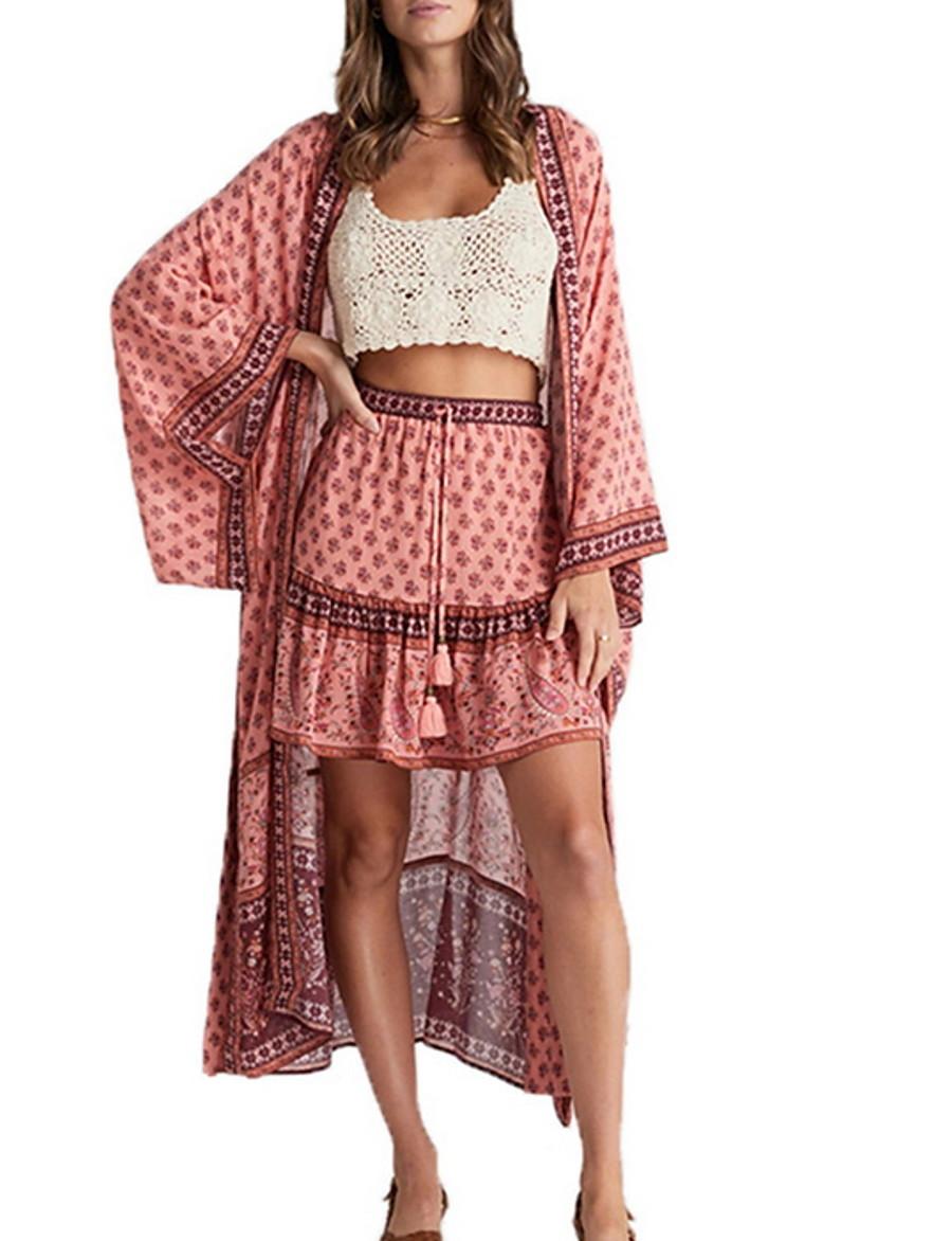 Women's Minimalism Lace Tankini Cover-Up Swimsuit Lace up Geometric Swimwear Bathing Suits Red Blushing Pink Green / Padless