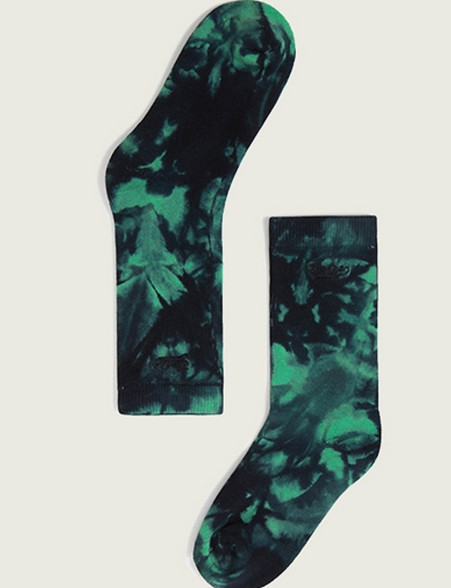1 Pair Men's Socks Reactive Print Warm Cotton EU40-EU46