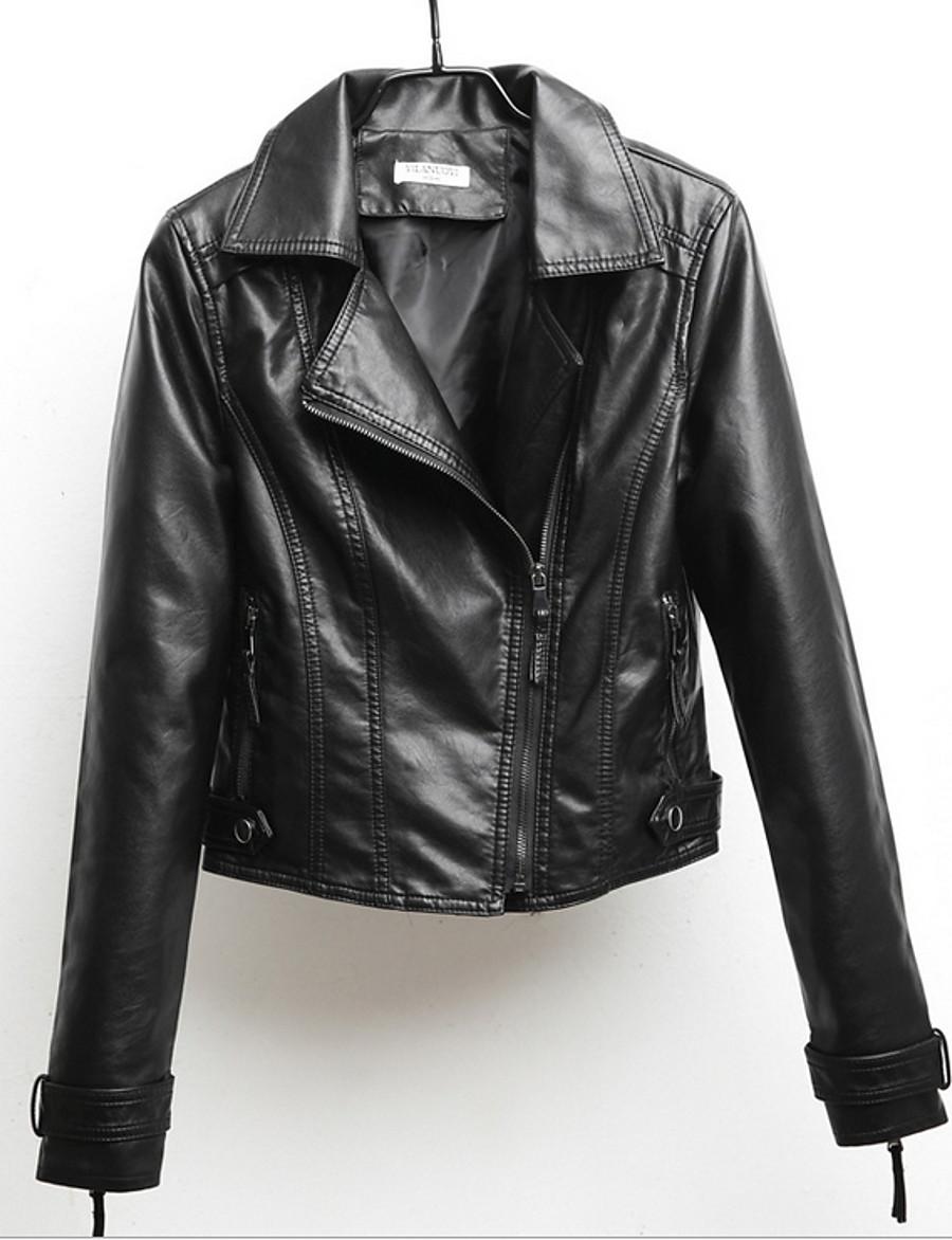 Women's Notch lapel collar Jacket Regular Solid Colored Daily Black Yellow Blushing Pink Beige S M L XL / Slim