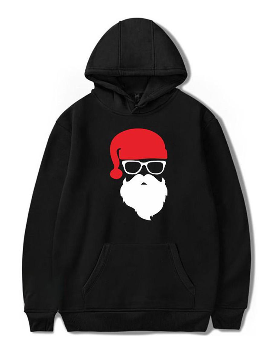 Men's Daily Pullover Hoodie Sweatshirt Graphic Oversized Hooded Casual Hoodies Sweatshirts  White Black Blue