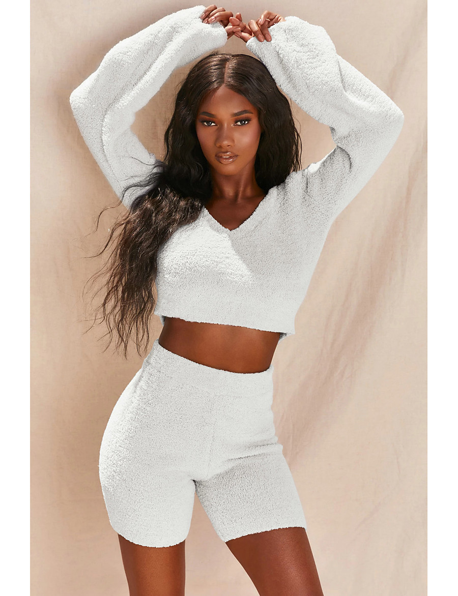 Women's Basic Solid Colored Two Piece Set Tracksuit Set Pant Loungewear Tops