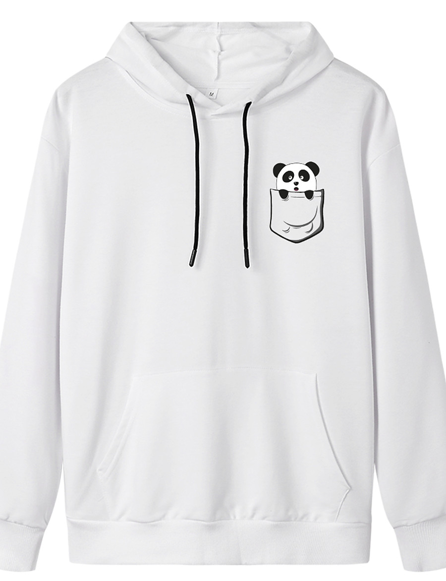 Women's Pullover Hoodie Sweatshirt Graphic Daily Weekend Basic Casual Hoodies Sweatshirts  White Black Blue