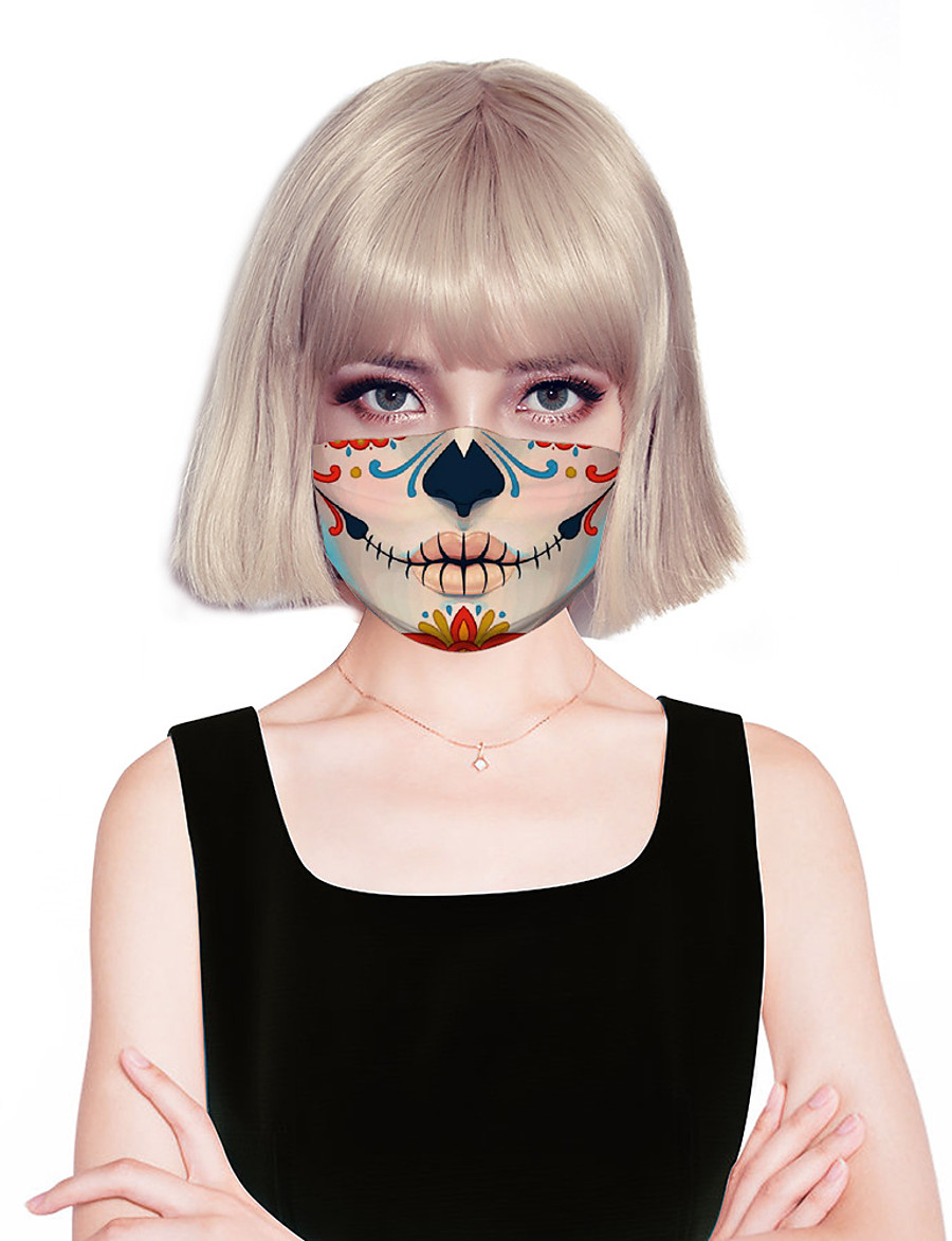 Women's Face cover Fashion Spandex Clown HomeMask / Layered / Fall / Winter / Spring / Summer