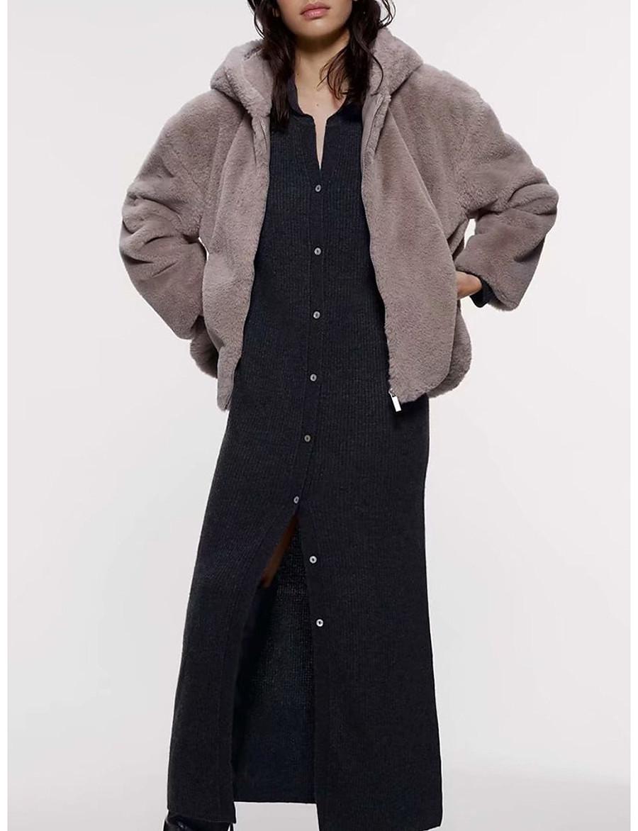Men's Hooded Kimono Jacket Regular Solid Colored Daily Basic Long Sleeve Light gray US32 / UK32 / EU40 US34 / UK34 / EU42 US36 / UK36 / EU44 US38 / UK38 / EU46
