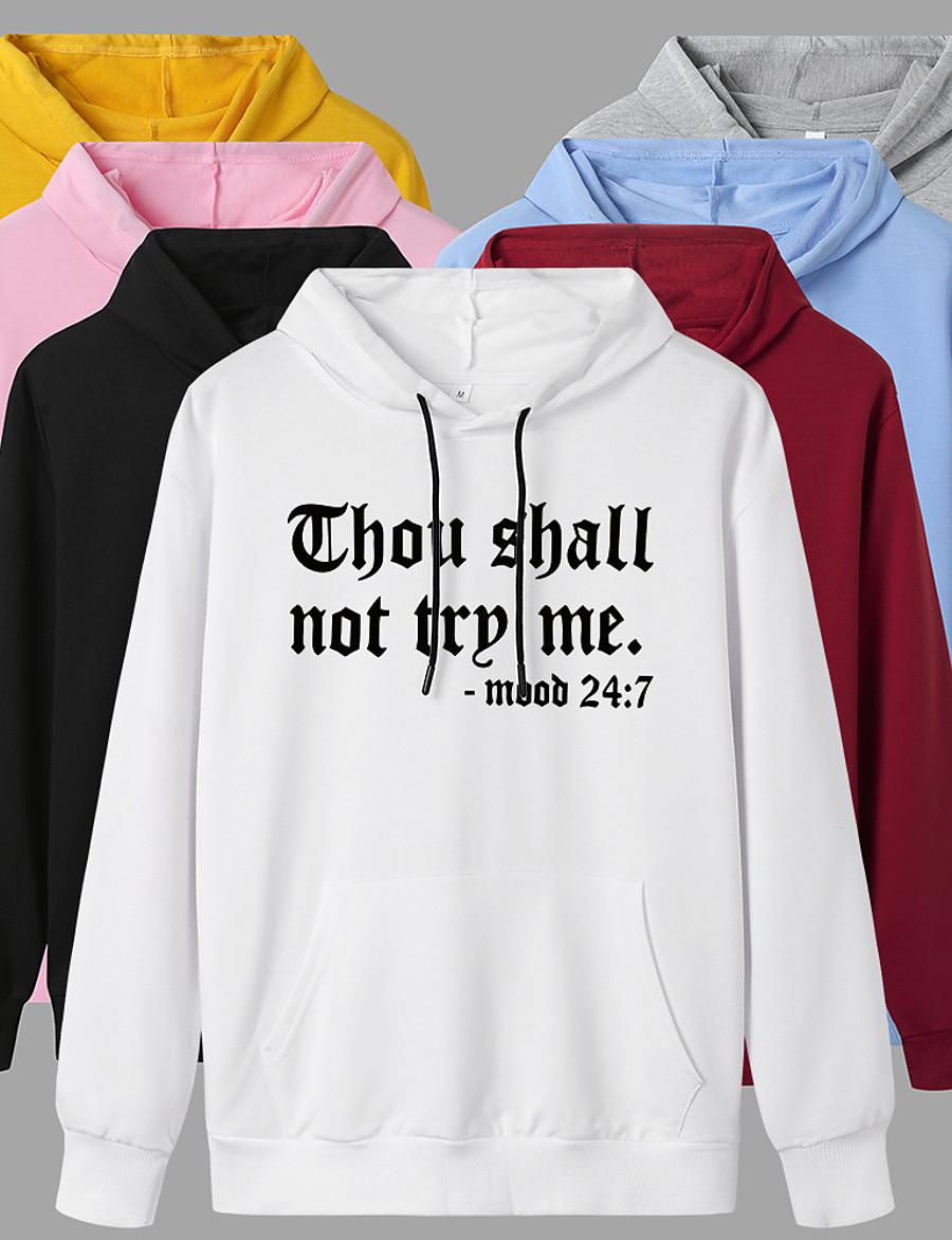 Women's Pullover Hoodie Sweatshirt Graphic Daily Casual Basic Hoodies Sweatshirts  White Black Blue