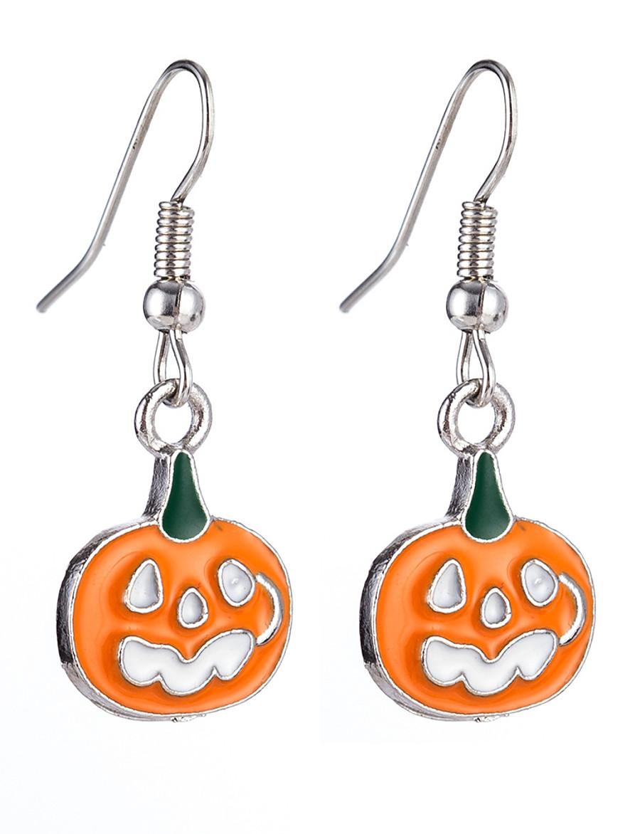 Men's Women's Hoop Earrings Hollow Out Letter Punk Earrings Jewelry Beige / White / White / Black For Halloween Carnival 2pcs