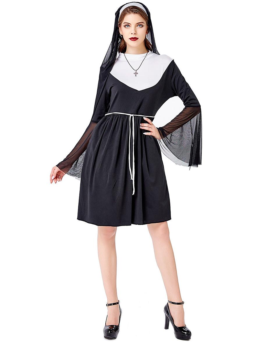 damen a-linie kleid knielanges kleid - langarm