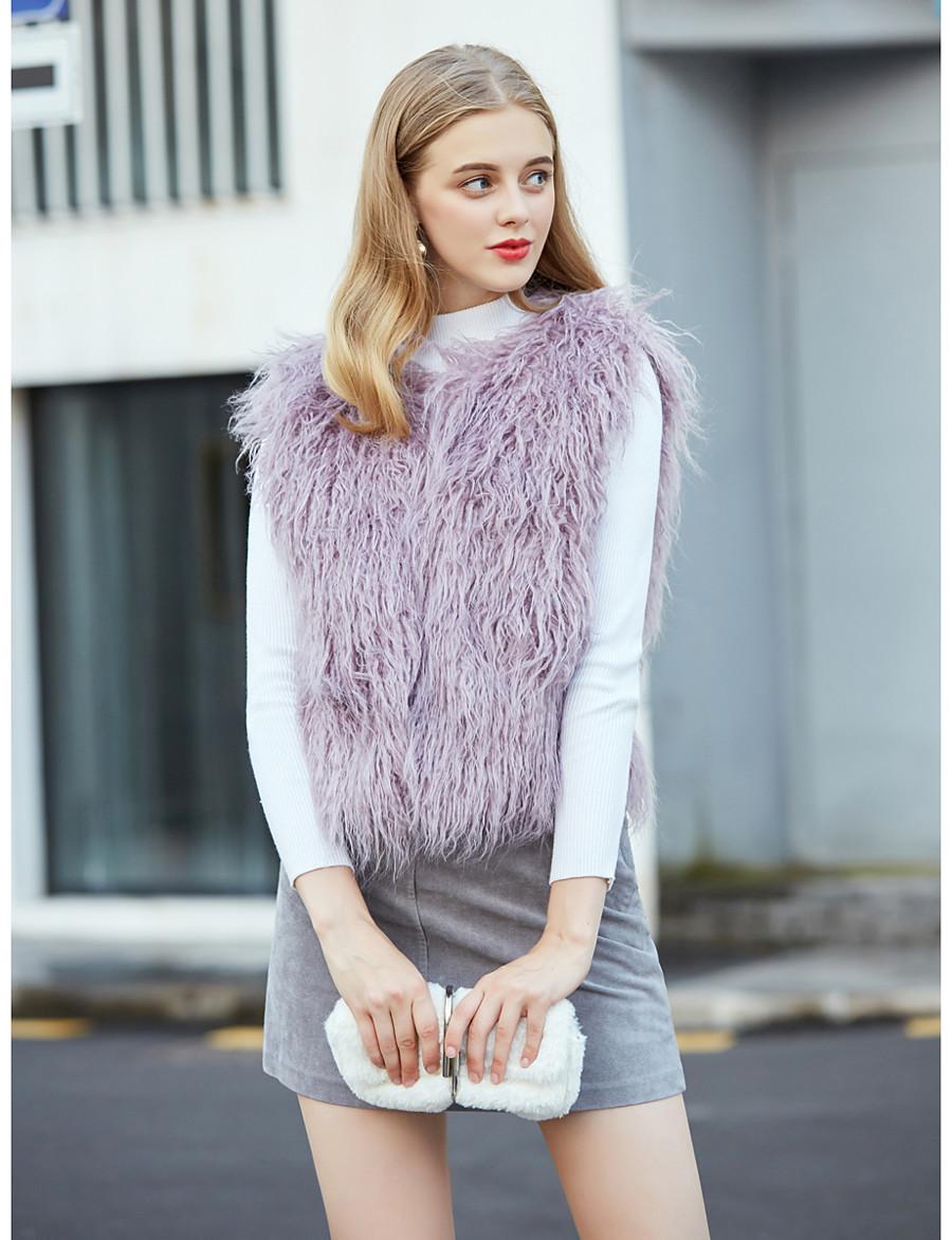 Women's Single Breasted Vest Short Tie Dye Daily Basic Purple Light Green S M L XL
