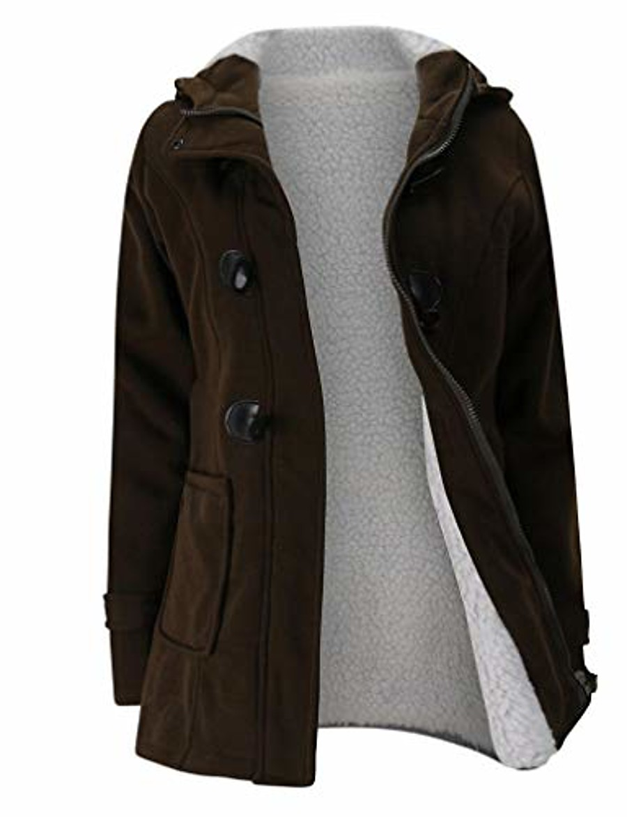 winter overcoat jackets plus size coat women teen school hoodies sweater coat tops warm windbreaker coffee