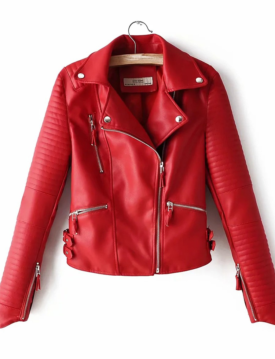 sna womens red custom made leather jacket - custom made leather jackets for women