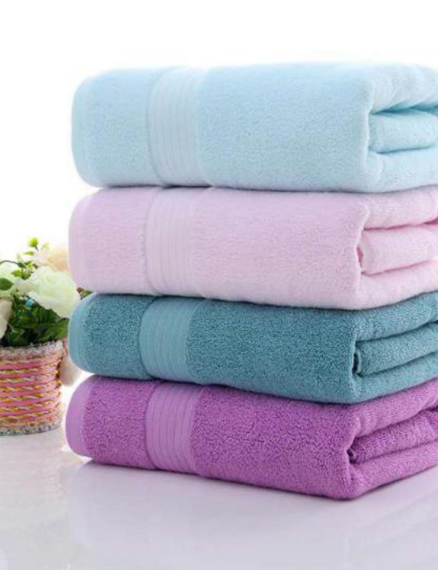 LITB Basic Bathroom 100% Pure Cotton Soft Bath Towel Solid Colored Comfortable Absorbent Daily Home Bath Towels 1 pcs 70*140cm