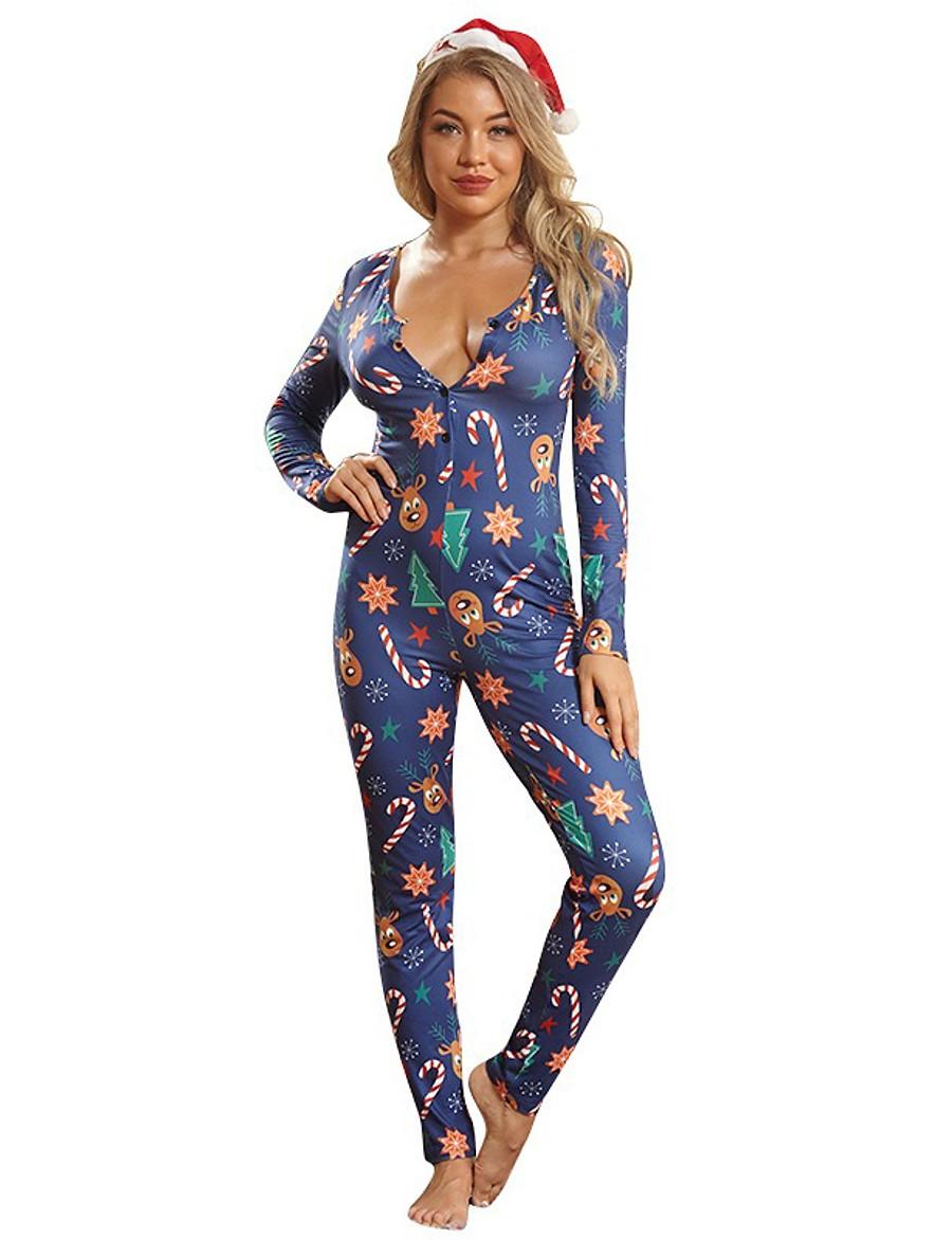 Combinaison-pantalon Femme Imprimé Abstrait Actif Bleu Marine S M L XL XXL 3XL 4XL 5XL