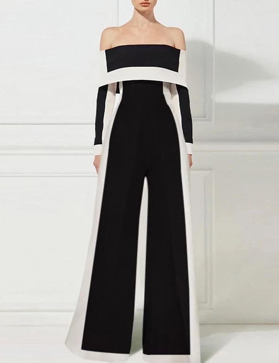 Women's Black Jumpsuit Solid Colored