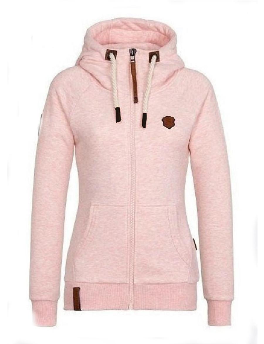 Women's Zipper Teddy Coat Regular Solid Colored Daily Basic Cotton Yellow Blushing Pink Wine Fuchsia S M L XL / Slim
