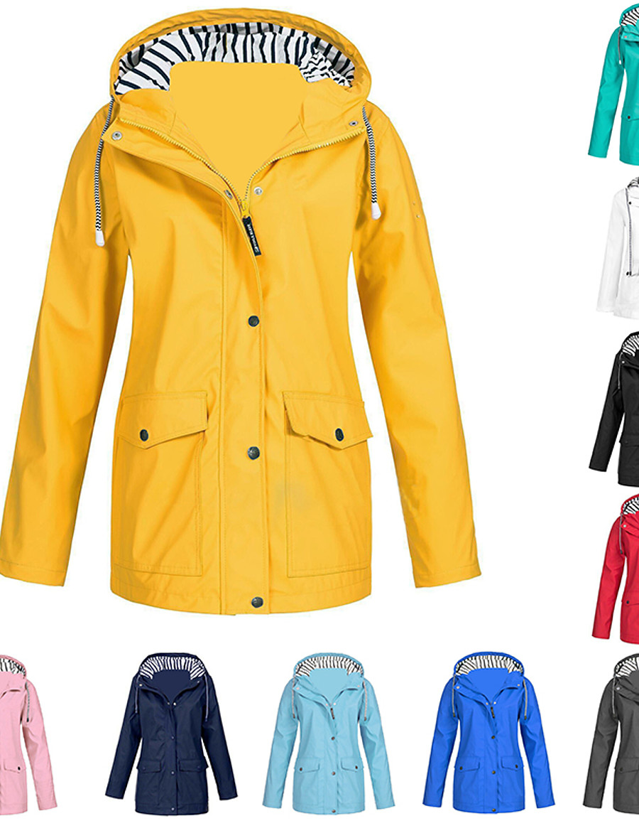 Women's Cotton Hoodie Jacket Hiking Jacket Hiking Windbreaker Outdoor Windproof Quick Dry Breathable Sweat-Wicking Outerwear Parka Trench Coat Camping / Hiking Hunting Fishing Light Blue Pink Blue