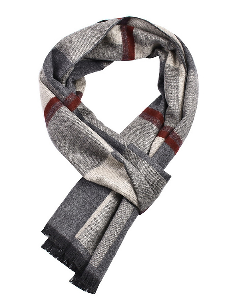 Men's Tassel Rectangle Scarf - Print