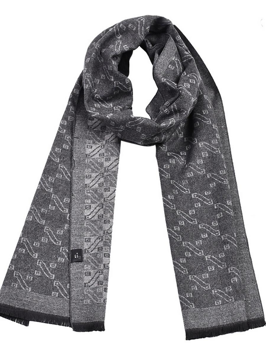 Men's Tassel Rectangle Scarf - Print
