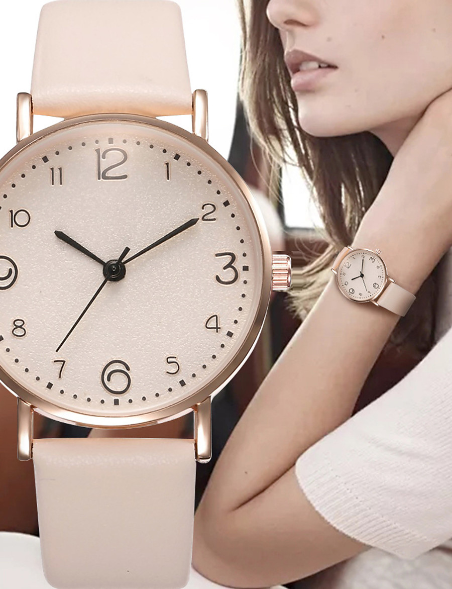 Women's Quartz Watches Analog - Digital Quartz Stylish Elegant Large Dial / PU Leather
