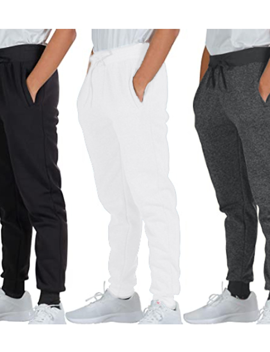 Men's Sweatpants Joggers Track Pants Casual Bottoms Drawstring Cotton Fitness Gym Workout Performance Running Training Breathable Soft Sweat wicking Normal Sport Solid Colored White Black Dark Gray