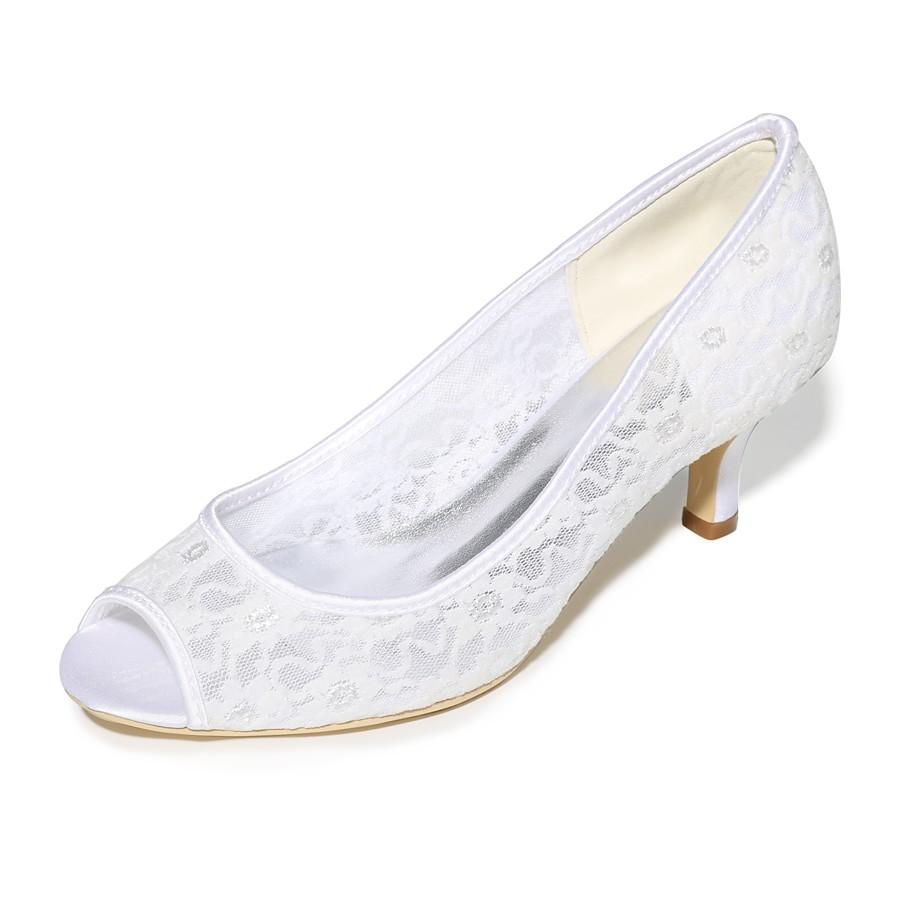 e289c88fa8 ADOR® Women's Shoes Lace Spring / Summer Basic Pump Wedding Shoes Stiletto  Heel