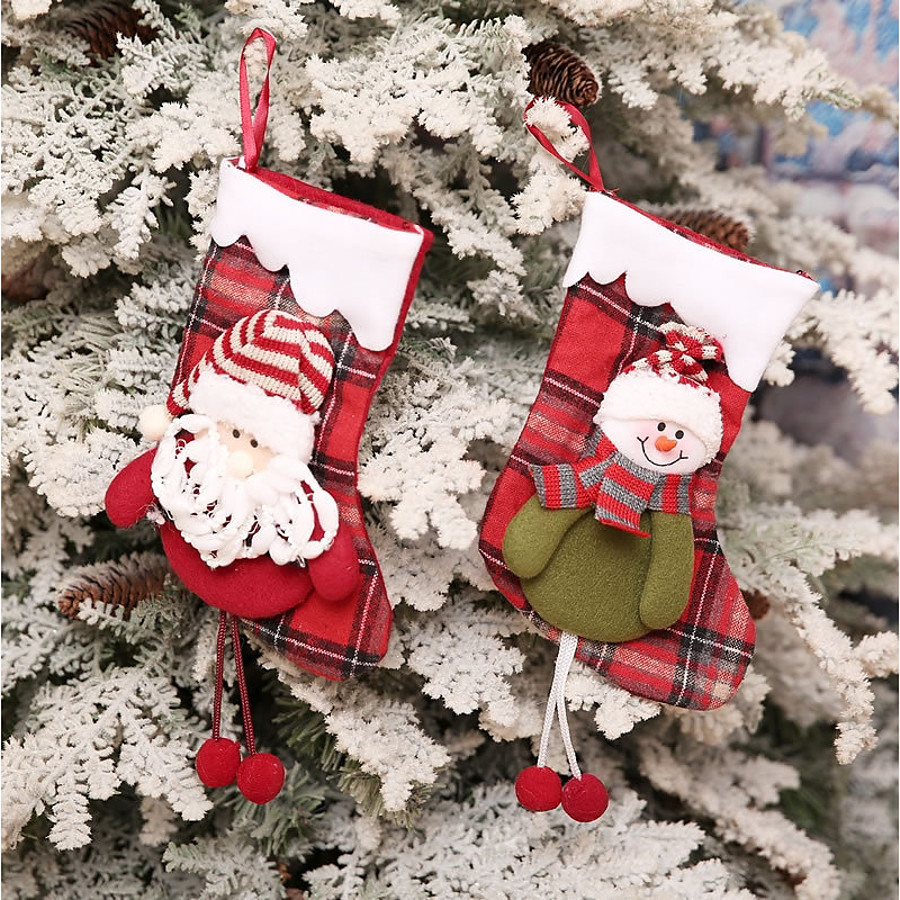 Family Christmas Stockings.2 99 Stockings Holiday Family Christmas Widespread Handmade Pouches Multi Function Christmas Decoration