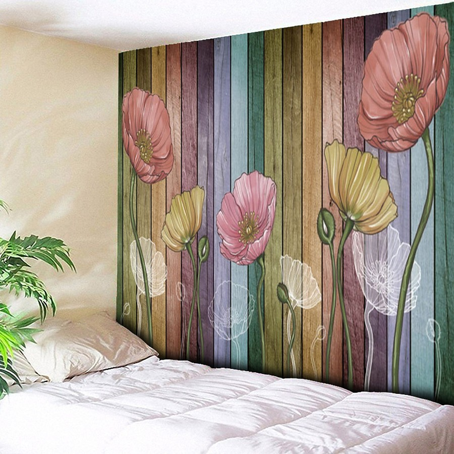 Wall Tapestry Art Decor Blanket Curtain Picnic Tablecloth Hanging Home Bedroom Living Room Dorm Decoration Flower Plant Floral Botanical