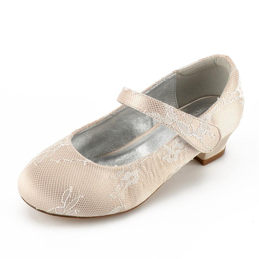 ADOR® Girls  Shoes Lace   Satin Summer Comfort   Ballerina   Ankle Strap  Wedding