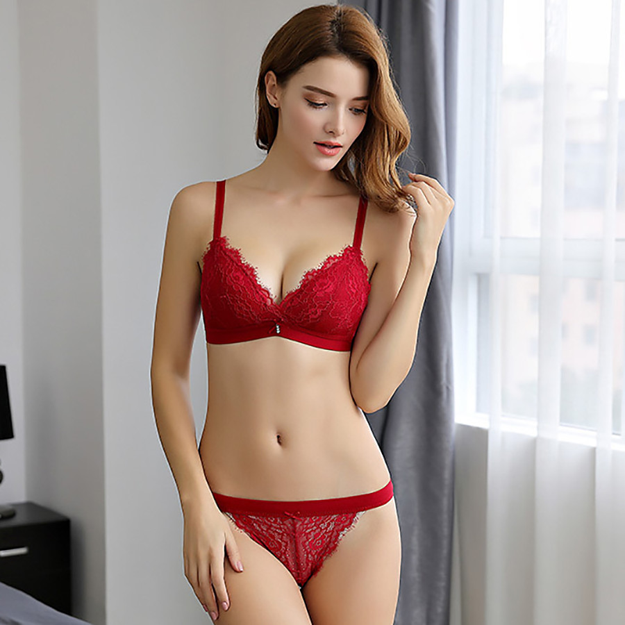 Women's Normal Sexy Full Coverage Bra Lace Bras - Solid Colored