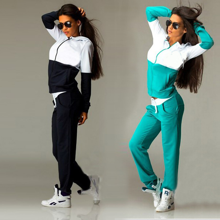 Women's 2 Piece Full Zip Tracksuit Sweatsuit Street Casual Long Sleeve 2pcs Winter Thermal Warm Breathable Moisture Wicking Fitness Running Jogging Sportswear Plus Size Outfit Set Clothing Suit