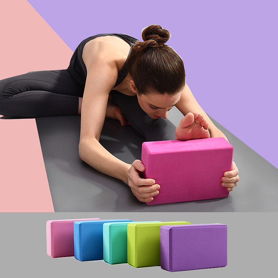 Yoga Block 1 pcs 23*15*7.5 cm Waterproof Odor Free Eco-friendly Non Slip High Density Non Toxic Foam EVA Strength Training Support and Deepen Poses Aid Balance And Flexibility for Yoga Pilates Bikram