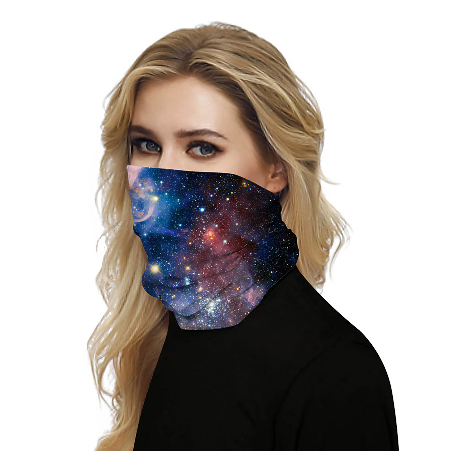 Women's Bandana Balaclava Neck Gaiter Neck Tube UV Resistant Quick Dry Lightweight Materials Cycling Polyester for Men's Women's Adults / Pollution Protection / Floral Botanical Sunscreen / High Breat