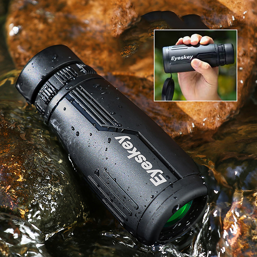 Eyeskey 8 X 42 mm Monocular Roof Night Vision Pro Multi-Resistant Coating 98.1/1000 m Fully Multi-coated BAK4 Camping / Hiking Outdoor Exercise Hunting and Fishing Silicon Rubber Spectralite ABS+PC