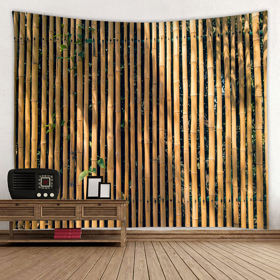 Beautiful Bamboo Wall Background Digital Printed Tapestry Decor Wall Art Tablecloths Bedspread Picnic Blanket Beach Throw Tapestries Colorful Bedroom Hall Dorm Living Room Hanging