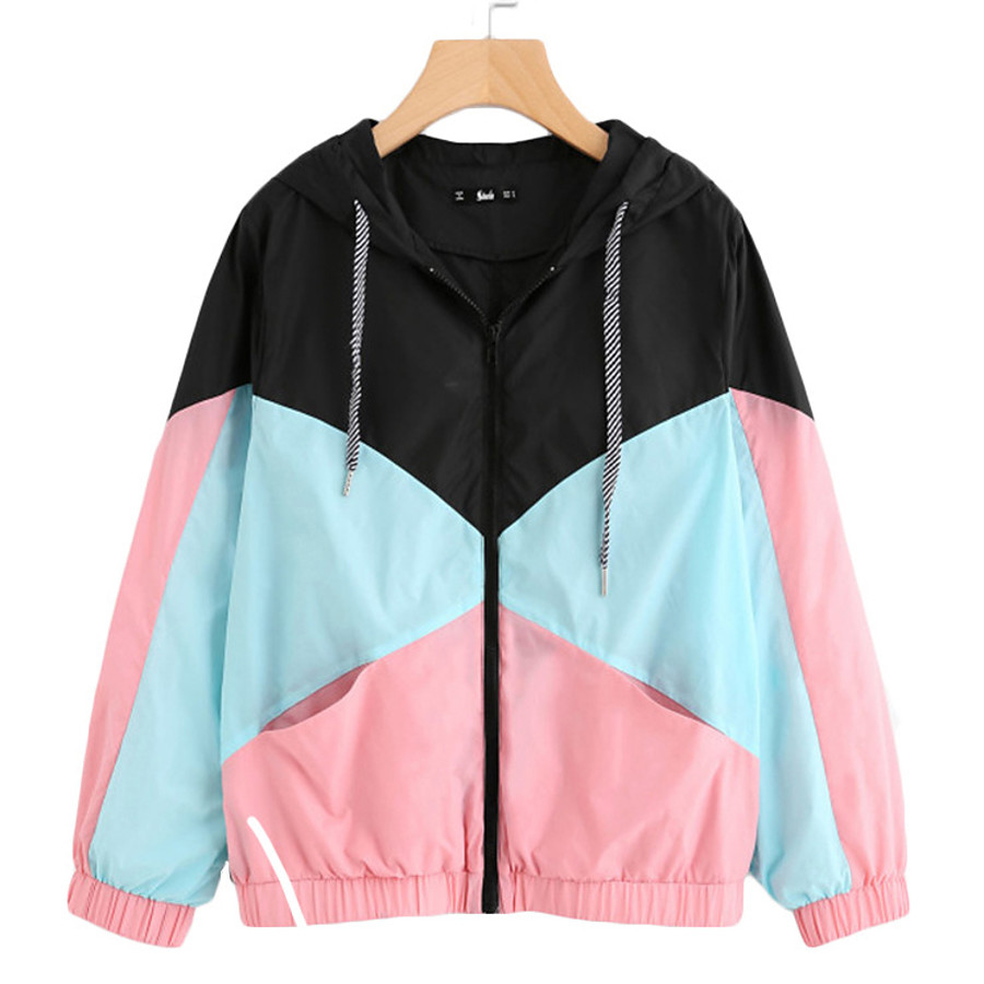 Women's Spandex Hoodie Jacket Hiking Jacket Hiking Windbreaker Outdoor Thermal Warm Windproof Sunscreen UV Resistant Patchwork Single Slider Outerwear Trench Coat Top Camping / Hiking Hunting Fishing