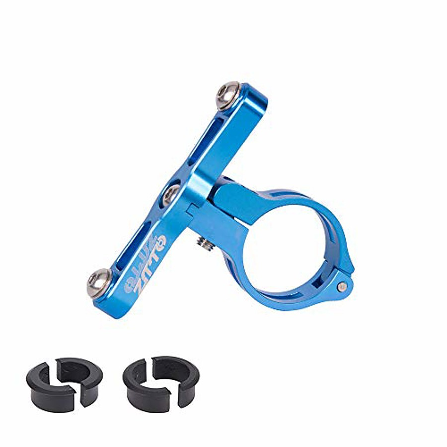 aluminum alloy cnc machined water bottle cage holder mount for 22.2mm 25.4mm 31.8mm handlebar seatpost (blue)