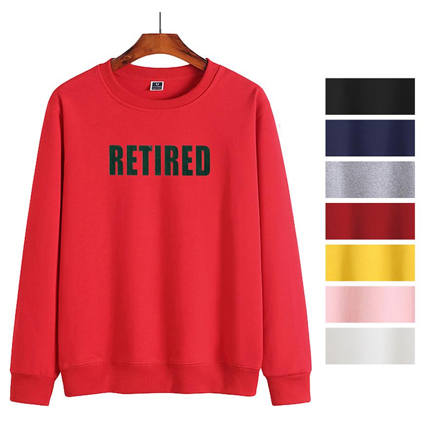 Men's Sweatshirt Mens Sweatshirt Pullover Sweatshirts Black White Blue Pink Artistic Style Crew Neck Fleece Letter Printed Cool Sport Athleisure Pullover Long Sleeve Warm Soft Comfortable Everyday Use