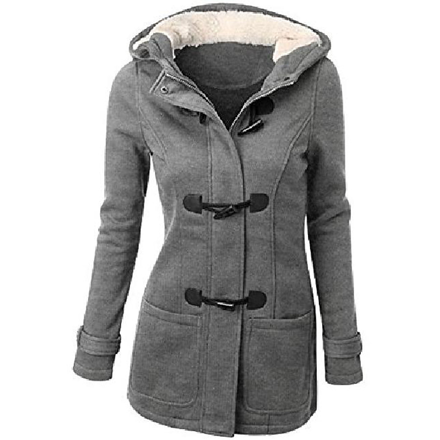 Women's Hoodie Jacket Coat Winter Outdoor Thermal Warm Windproof Breathable Wear Resistance Coat Top Cotton Camping / Hiking Fishing Climbing Light Gray Wine ArmyGreen Black Brown