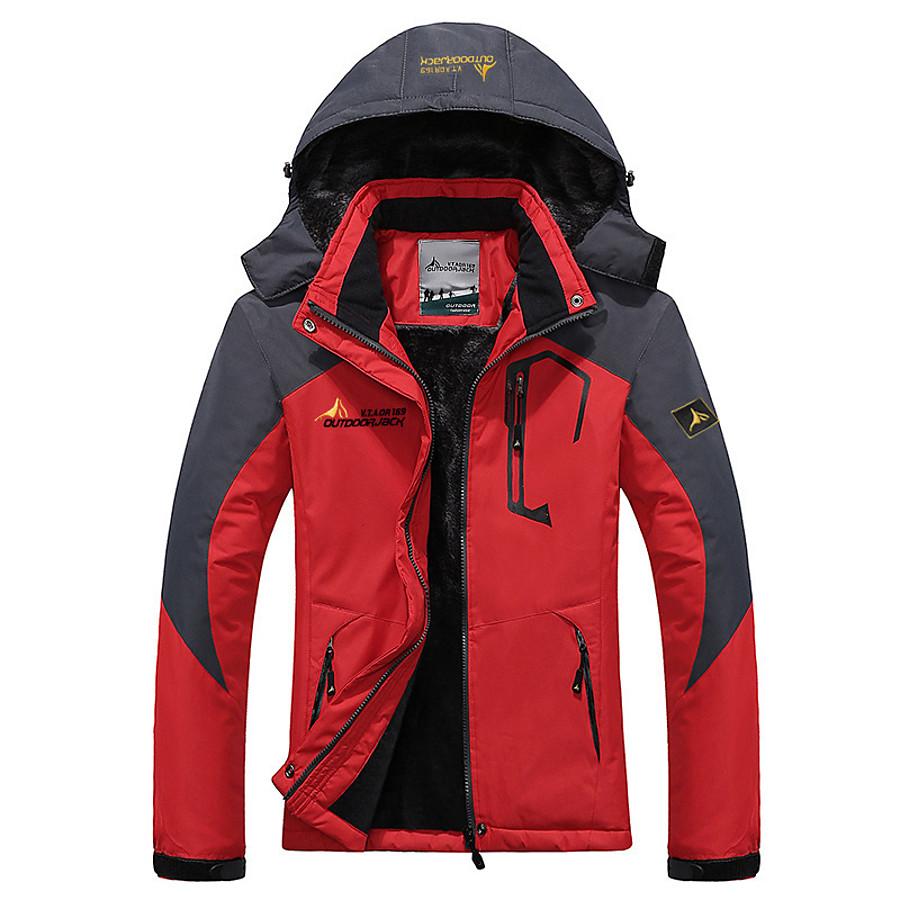 Women's Thermal Warm Windproof Rain Waterproof Wearproof Ski Jacket Rain Jacket Winter Jacket for Ski / Snowboard Hiking / Fleece / Long Sleeve / Plus Size