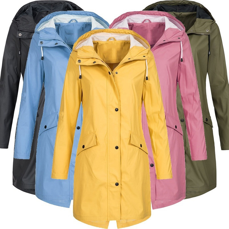 Women's Hoodie Jacket Hiking Jacket Rain Jacket Winter Outdoor Thermal Warm Waterproof Windproof Breathable Coat Top Cotton Camping / Hiking Hunting Fishing Black Yellow Pink