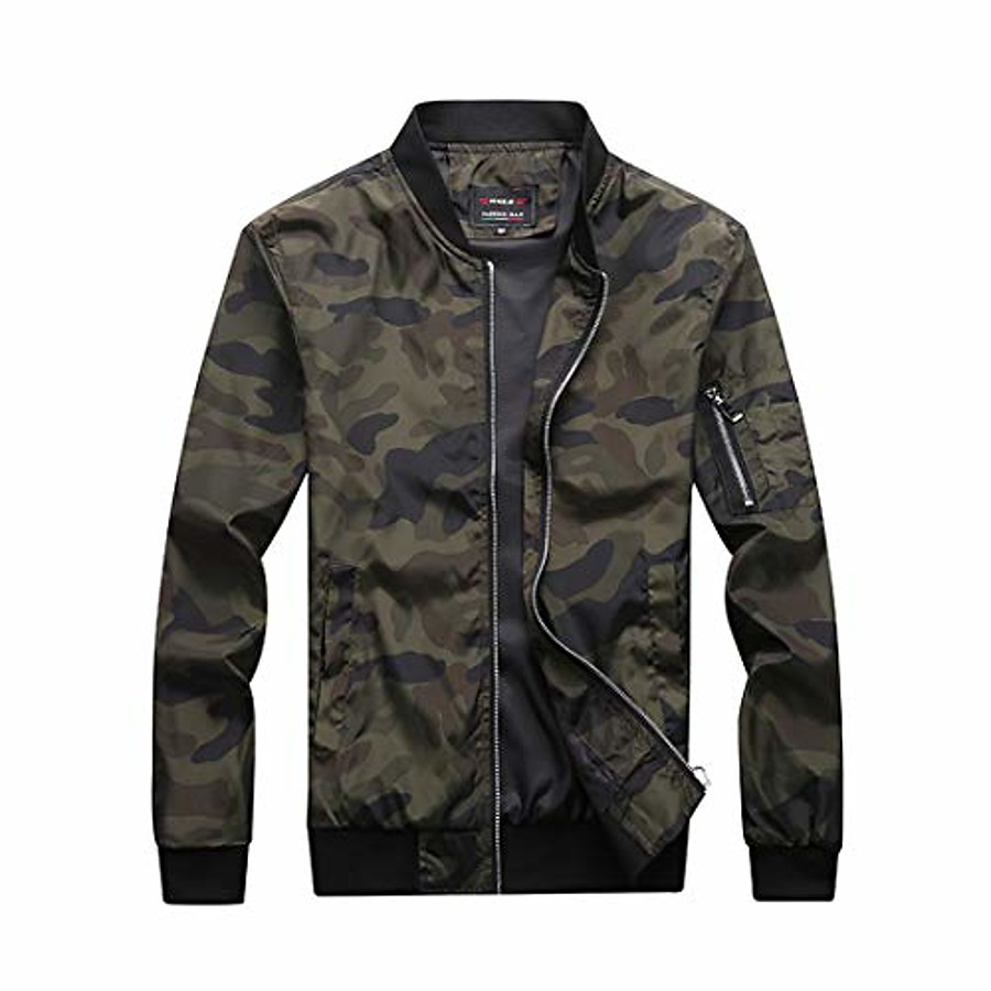 Hunting Jacket Outdoor Windproof Wear Resistance Scratch Resistant Coat Top Camping / Hiking Hunting Fishing Green Gray