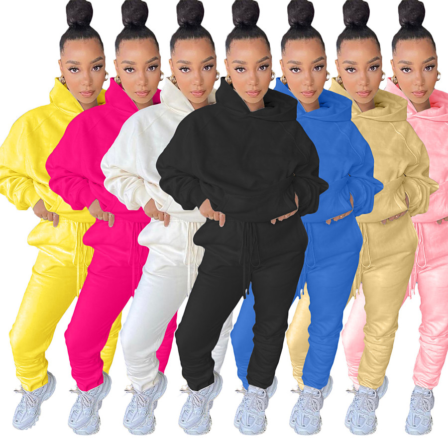 Women's 2 Piece Street Casual Tracksuit Sweatsuit 2pcs Long Sleeve Winter Lightweight Breathable Soft Nylon Running Jogging Exercise Sportswear Solid Colored Yellow Blue Pink Khaki White Black
