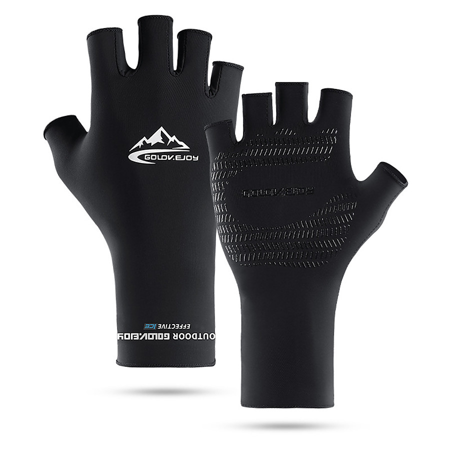 Bike Gloves / Cycling Gloves Anti-Slip Sunscreen Breathable Quick Dry Fingerless Gloves Sports Gloves White Black Grey for Adults' Outdoor Exercise Cycling / Bike