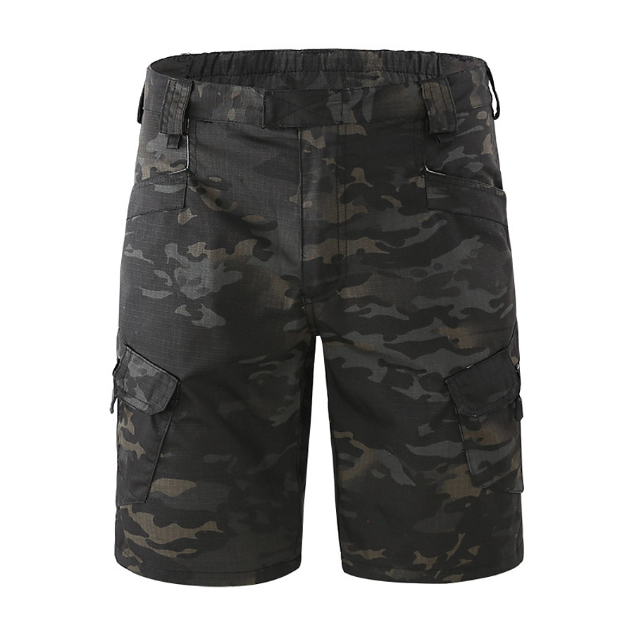 Men's Hiking Cargo Shorts Tactical Shorts Camo Shorts Summer Multi-Pockets Quick Dry Breathable Sweat-Wicking Camo / Camouflage Bottoms for Camping / Hiking Hunting Combat Dark Khaki Shallow Khaki CP