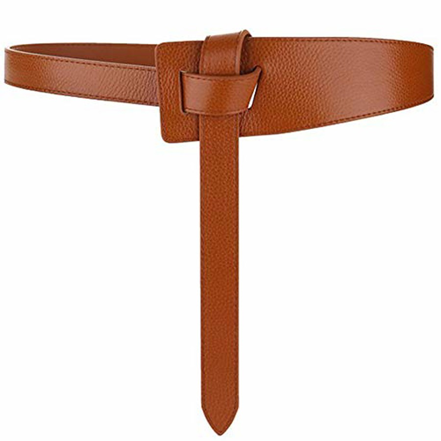 Women's Wide Belt Black White Party Street Dailywear Daily Belt Pure Color / Red / Brown / Khaki / Fall / Winter