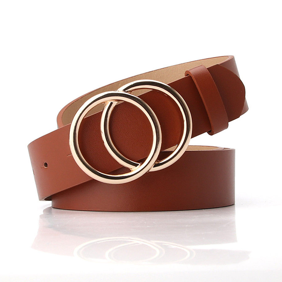 Women's Waist Belt Black White Party Wedding Street Daily Belt Pure Color / Basic / Brown / Fall / Winter / Spring