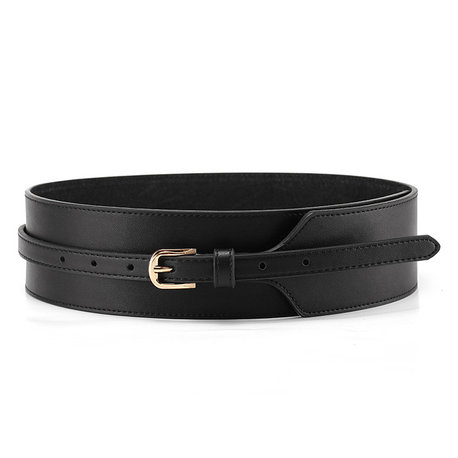 Women's Wide Belt Black Red Party Wedding Street Daily Belt Pure Color / Brown / Fall / Winter / Spring / Summer