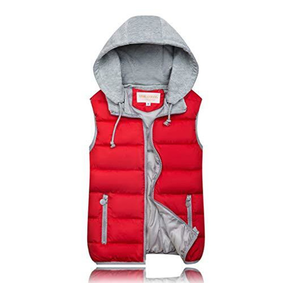 Women's Lightweight Puffer Vest Fishing Vest Hiking Fleece Vest Sleeveless Jacket Top Outdoor Padded Insulated Vest with Pockets Quick Dry Breathable Thermal Warm Winter Full Zip Wine Red Climbing