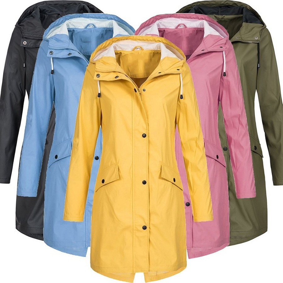 Women's Spandex Hoodie Jacket Hiking Jacket Hiking Windbreaker Outdoor Windproof Ultra Light (UL) UV Protection Quick Dry Outerwear Coat Parka Camping / Hiking Hunting Fishing Pink Blue Yellow Green