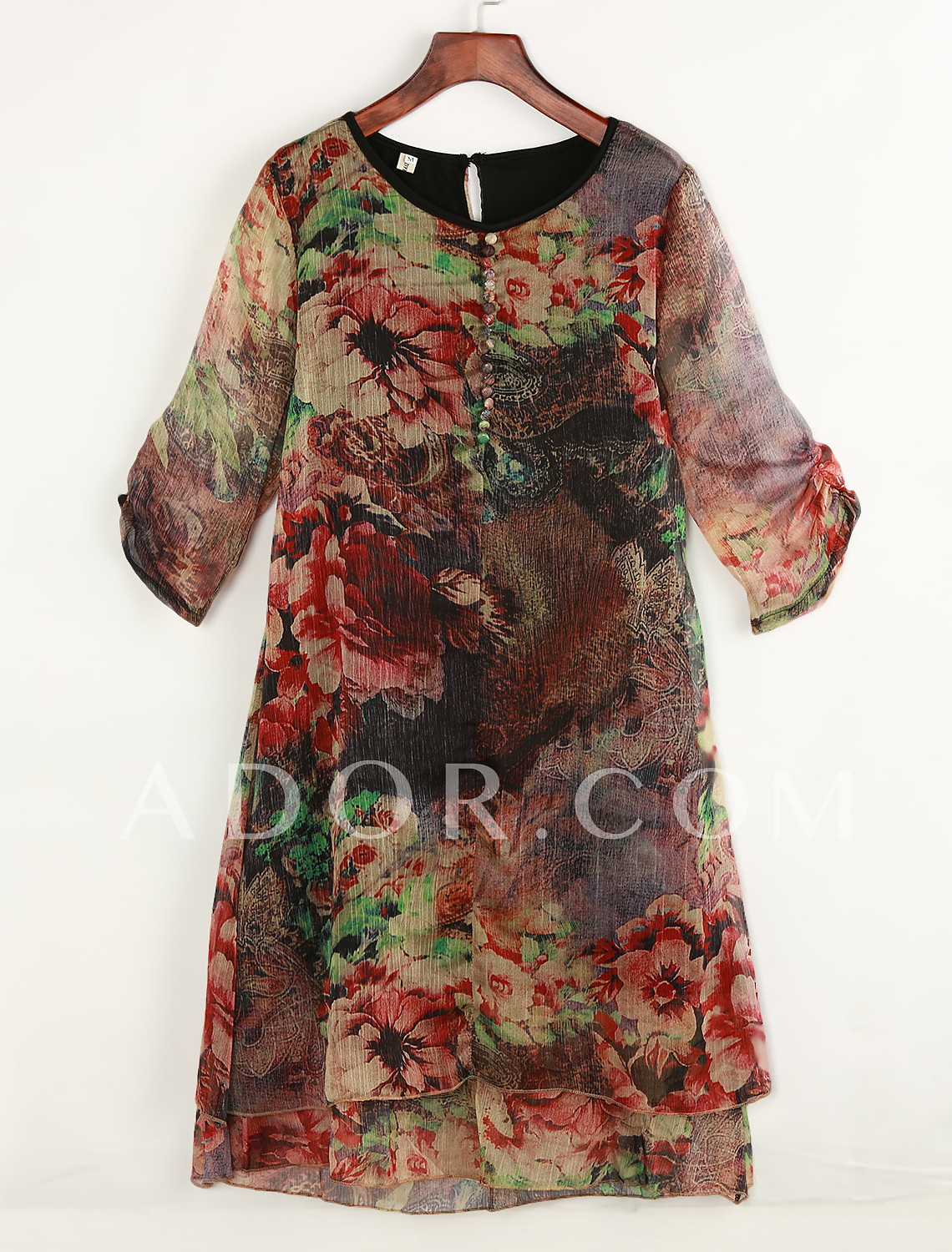 bd2a6583749 Women s Plus Size Chinoiserie Loose   Chiffon Dress - Floral Print   Spring    Summer
